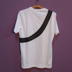 Shirts - Dior Cross Bag Print White T-Shirt